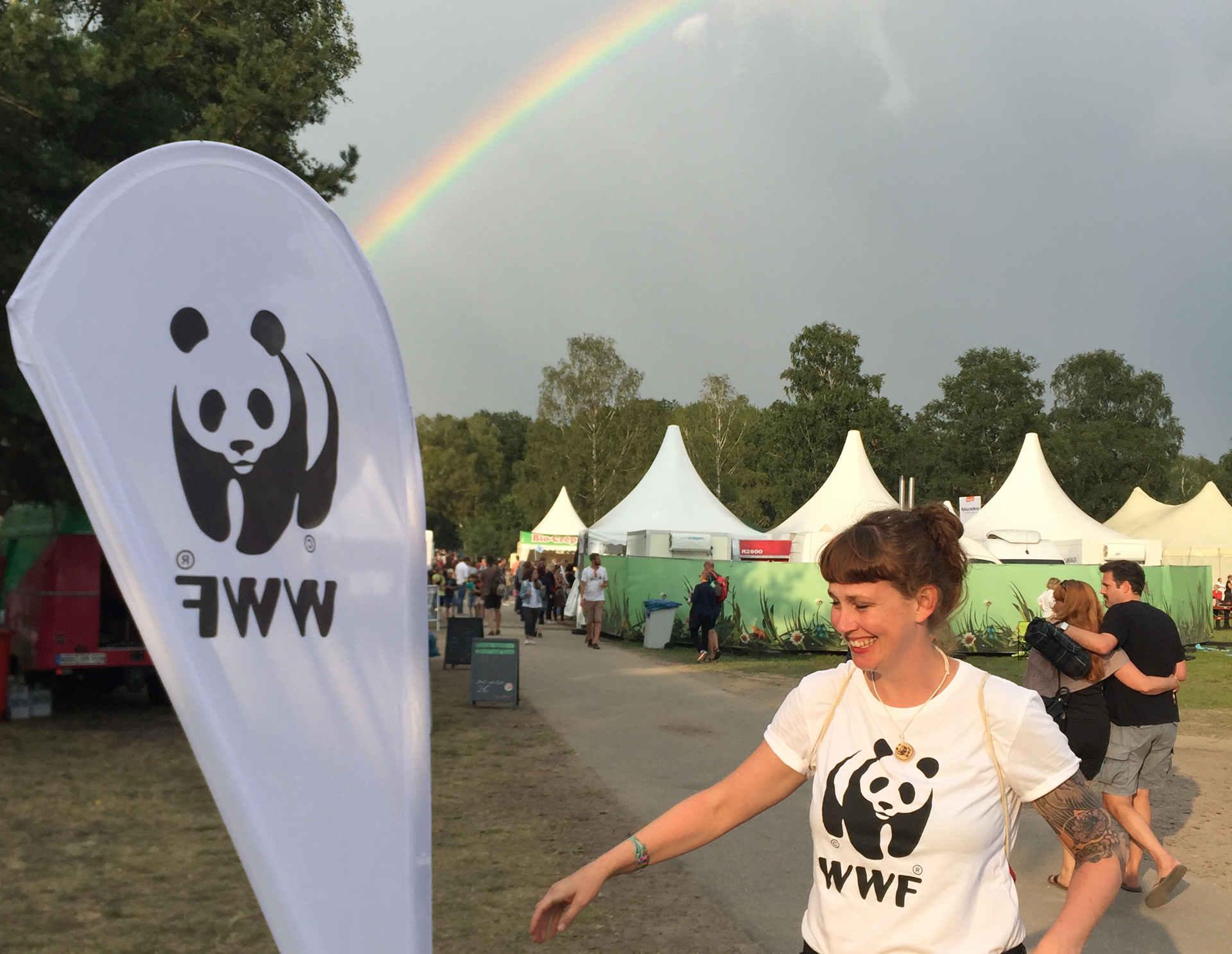 Summer`s tale 2019: Regenbogen über dem Festival