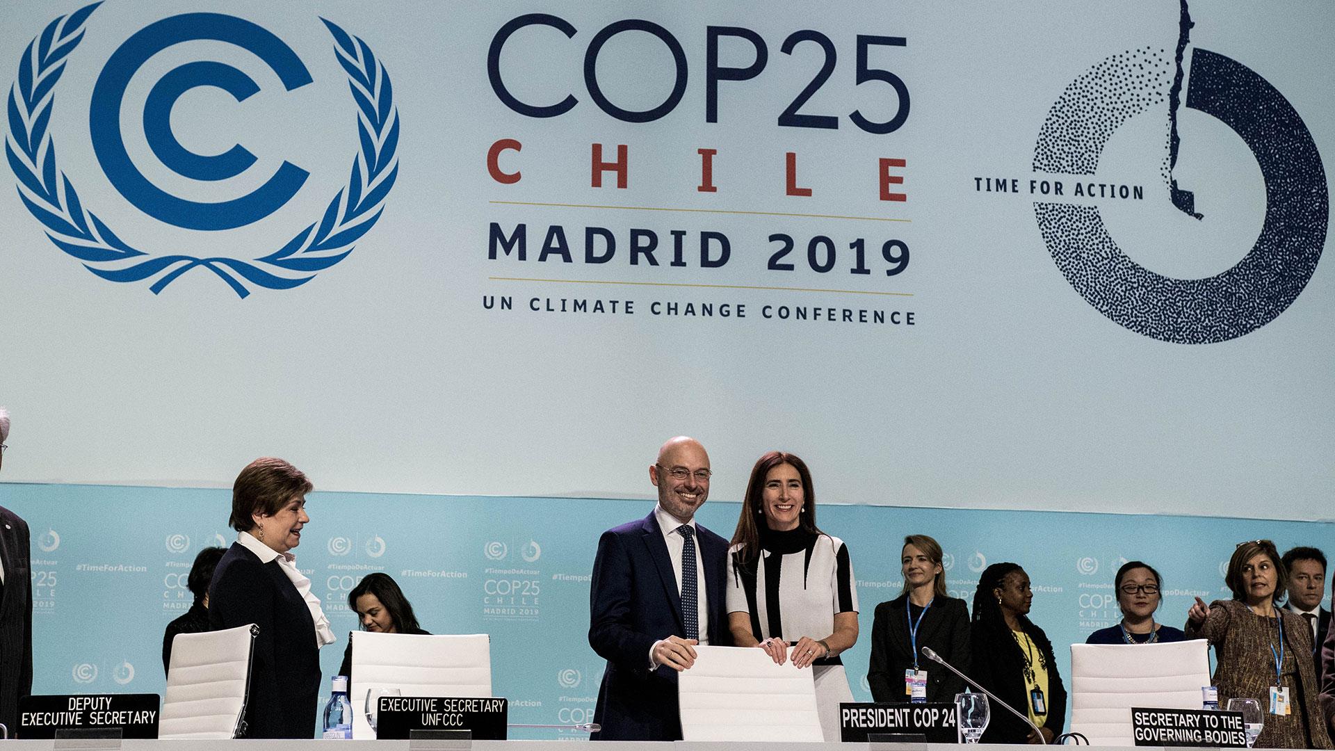 Die COP25 wurde aufgrund der Unruhen in Chile nach Madrid verlegt. © picture alliance / Photoshot
