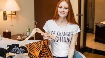 """""""We Change Fashion"""" – Barbara Meier ist BMZ-Botschafterin für nachhaltige Mode. © Alexander Paul Brandes"""