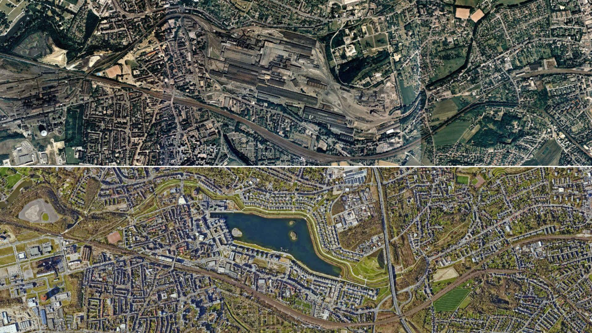 Kohleausstieg: Strukturwandel in Dortmund, Luftbild Phönixsee