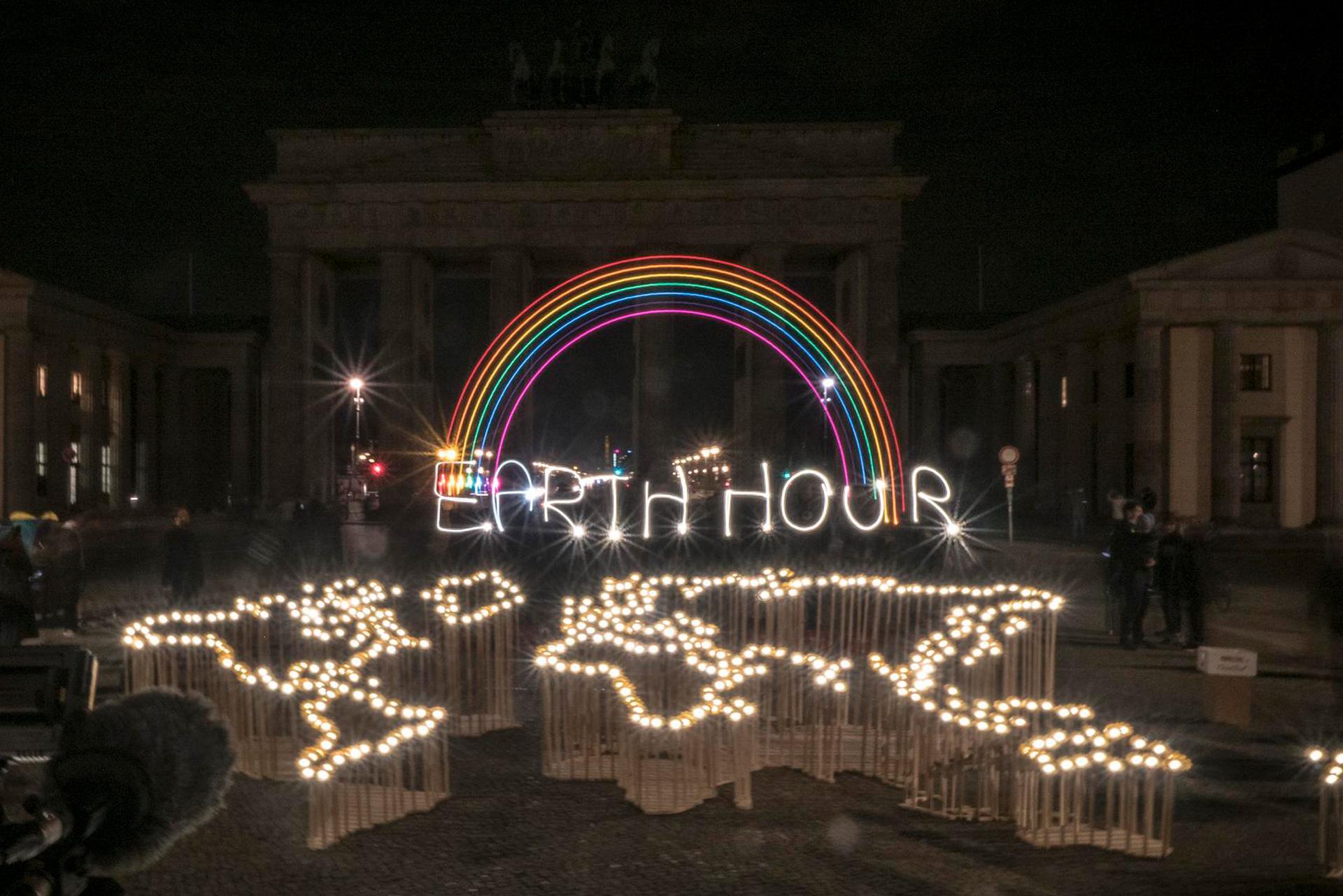 So ein Event wie letztes Jahr wird es 2020 am Brandenburger Tor nicht geben. © Daniel Seiffert / WWF