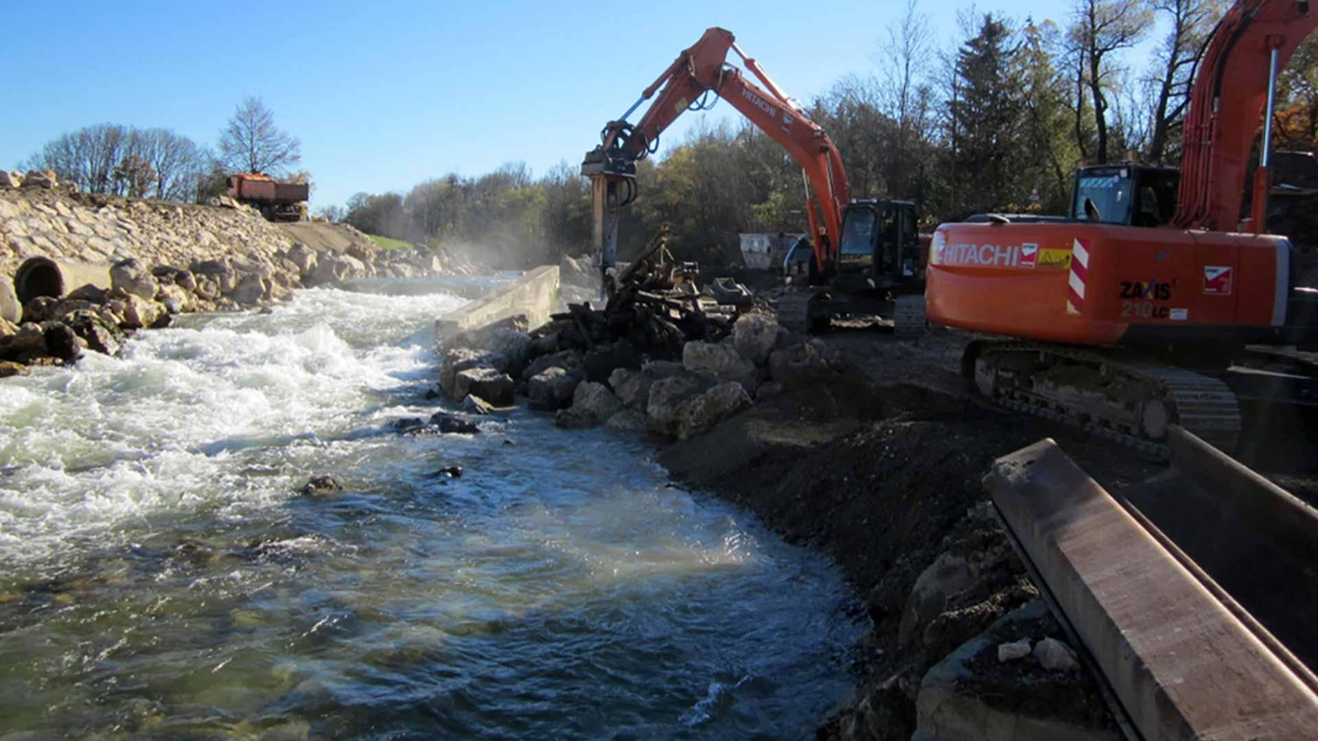 Das Ziel: Wieder das natürliche Fließverhalten herstellen. © Wasserwirtschaft Weilheim