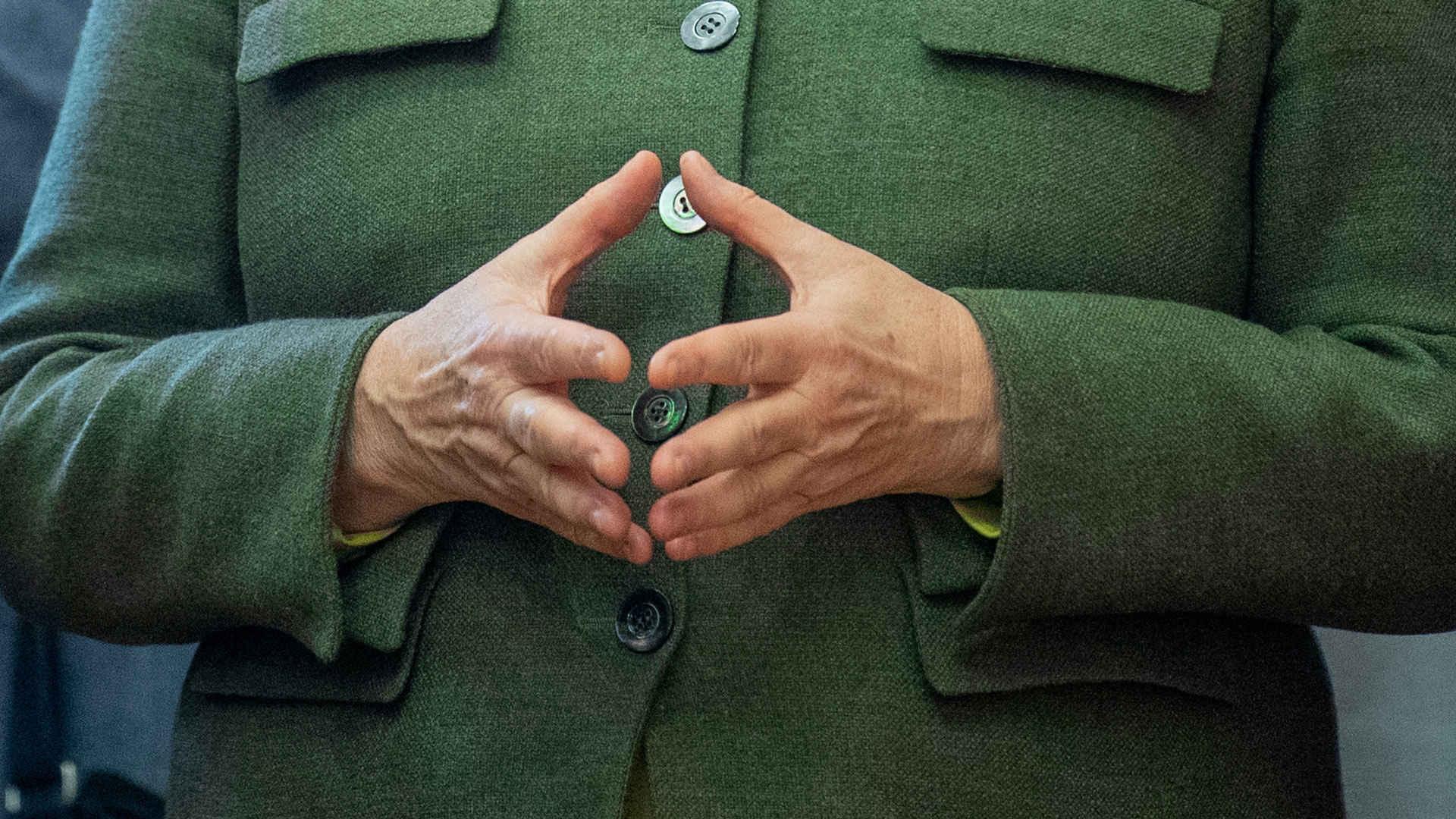 EU-Ratspräsidentschaft: Merkel Raute