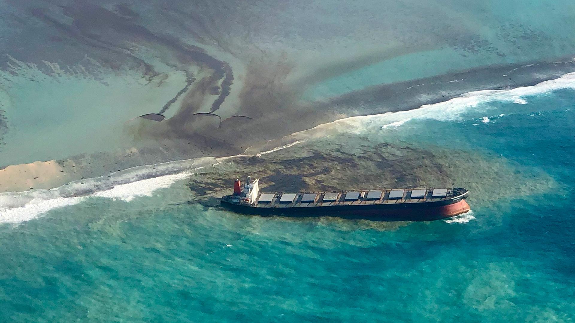 Ölkatastrophe vor Mauritius im Juli 2020