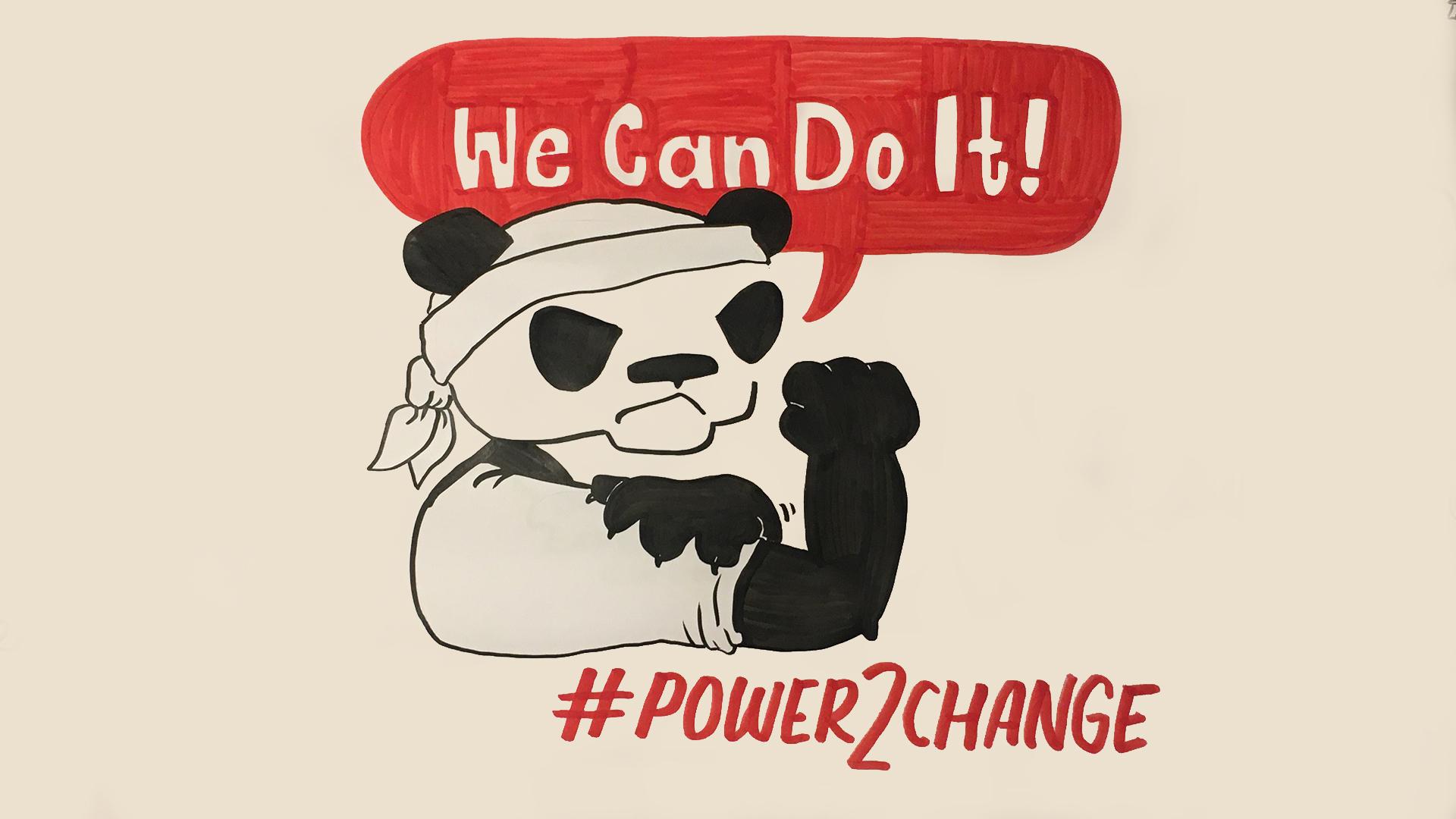 Power2change Power to x Wasserstoff Panda