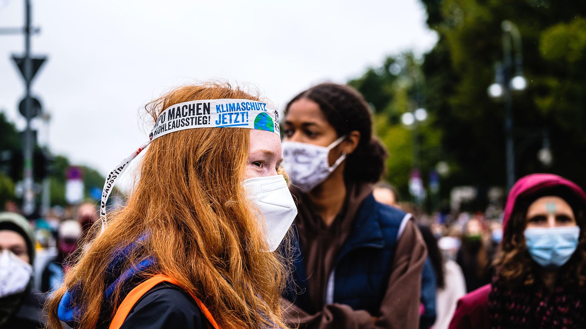 Rebellinnen: Junge Frauen beim Klimastreik in Berlin