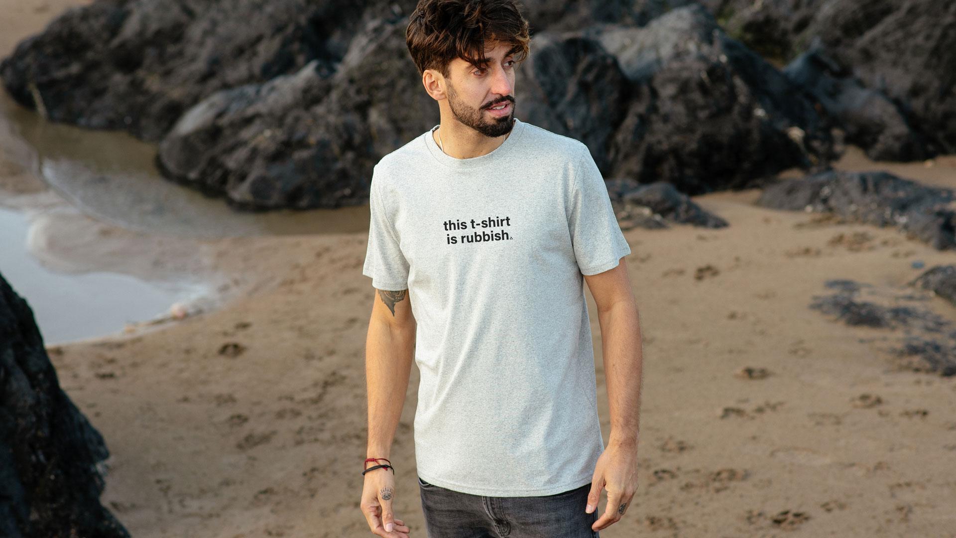 Aus alt mach neu: T-Shirt einsenden und Gutschein erhalten. Die Baumwolle wird recycelt.