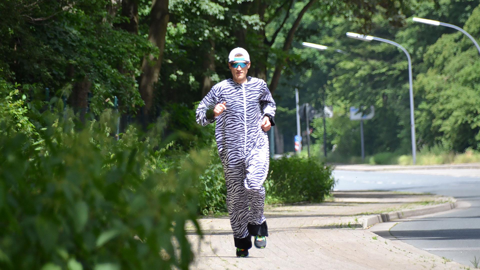 Spendenlauf Höing: im Zebra für den WWF