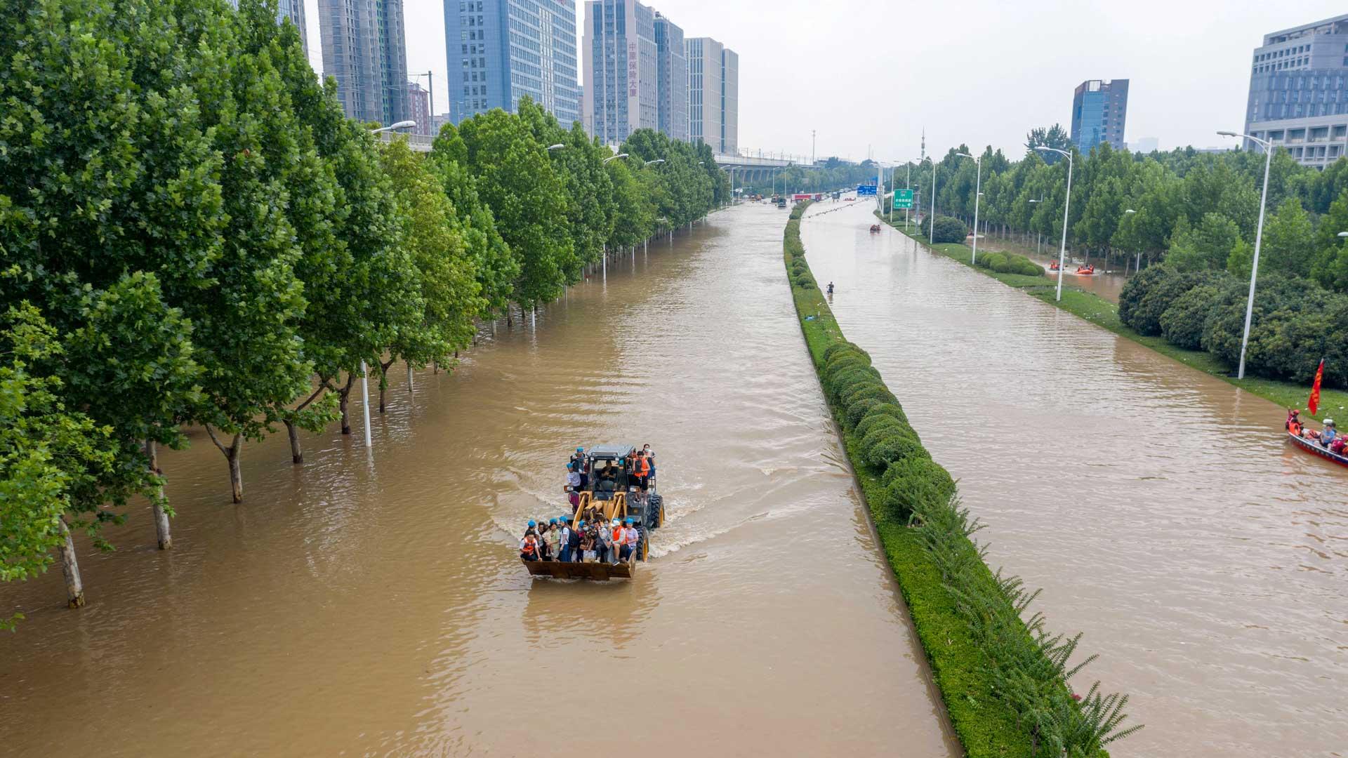 China Hochwasser Zhengzhou 2021