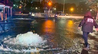 New York Ida Überschwemmung Starkregen